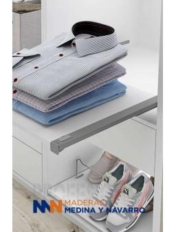 Juego estante extraíble para armario vestidor
