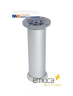 Pata para mueble aluminio redonda Emuca