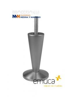 Pata para mueble aluminio Emuca Venetto