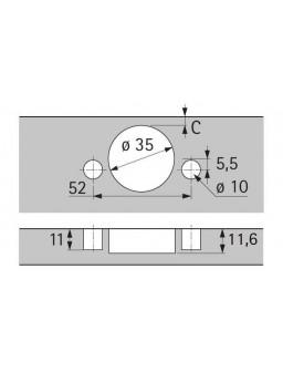 Bisagra Sensys 165º Sin Muelle