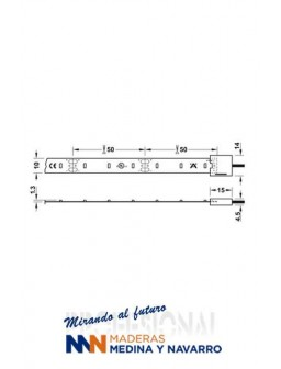 Tira LED 2043 de 5 metros 12V