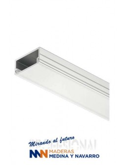 Perfil de aluminio para montaje bajo estante