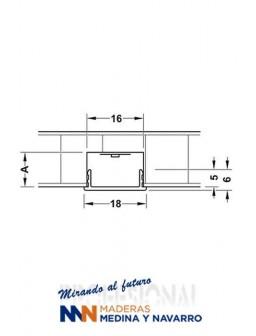 Perfil de cubierta para PVC LED