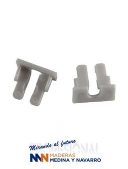 Juego de tapas para perfil de aluminio