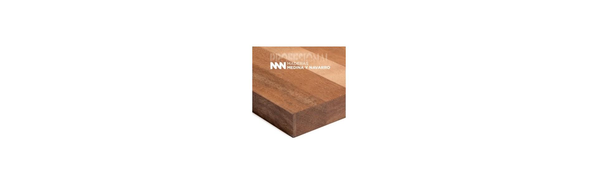 Tableros alistonados de madera maciza