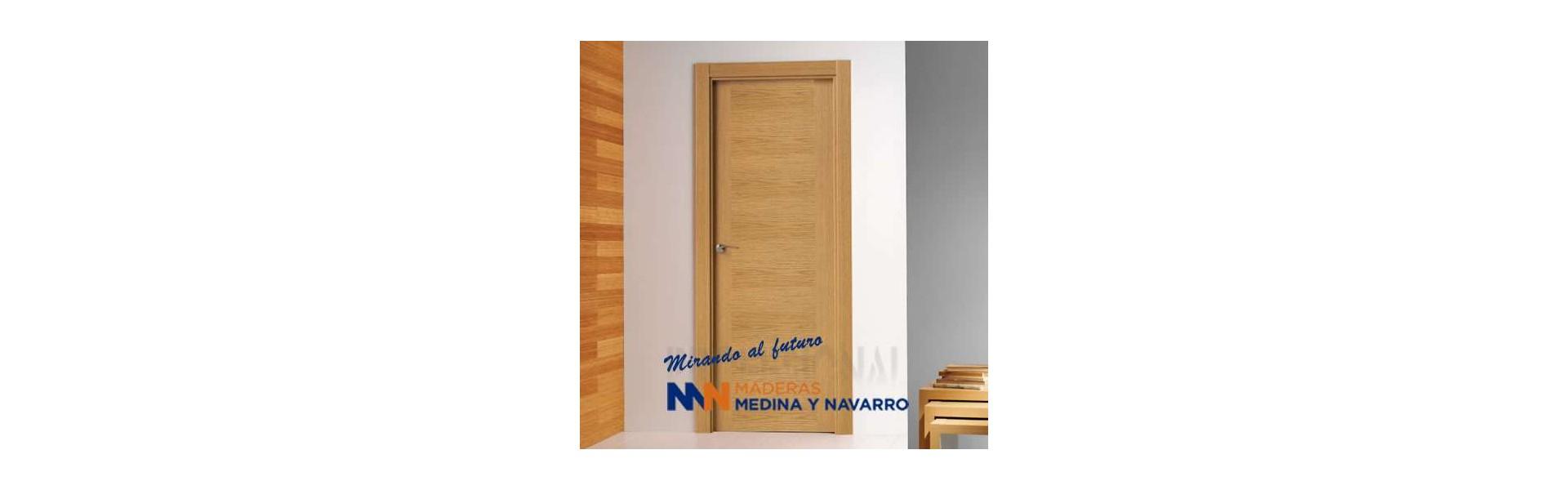Puertas de interior de chapa barnizada modernas de Puertas Proma
