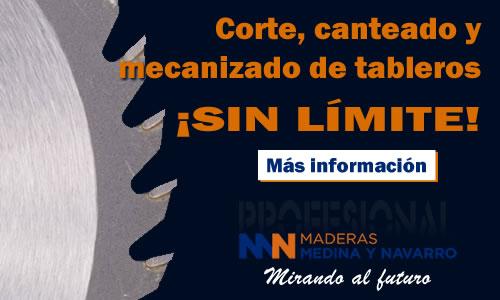 Corte, canteado y mecanizado de tableros en Maderas Medina y Navarro