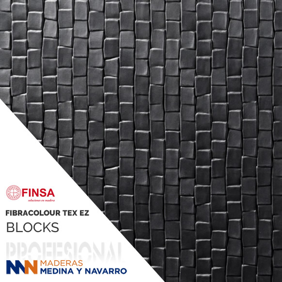 FIBRACOLOUR NEGRO EZ TEX BLOCKS