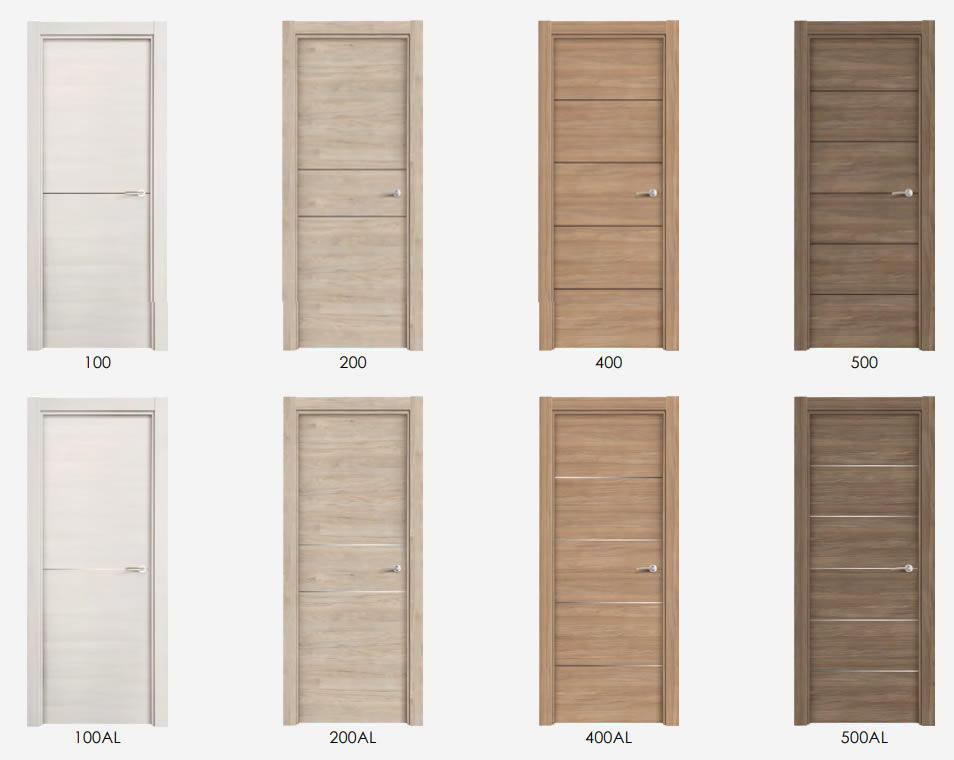 Opciones de la puerta laminada para interior de Maderas Medina y Navarro