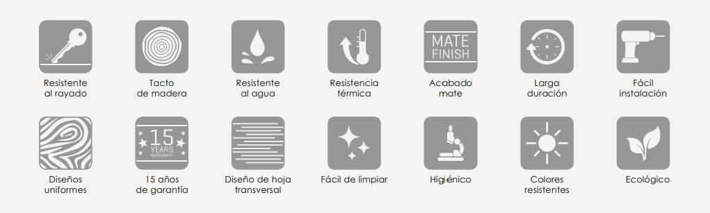 Propiedades de la puerta laminada para interior de Maderas Medina y Navarro